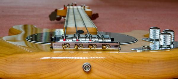 Bass guitar end view – Stephen