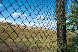 fence near Kelmarsh station